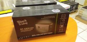 Black Friday Gel solar batteries 200ah 12V