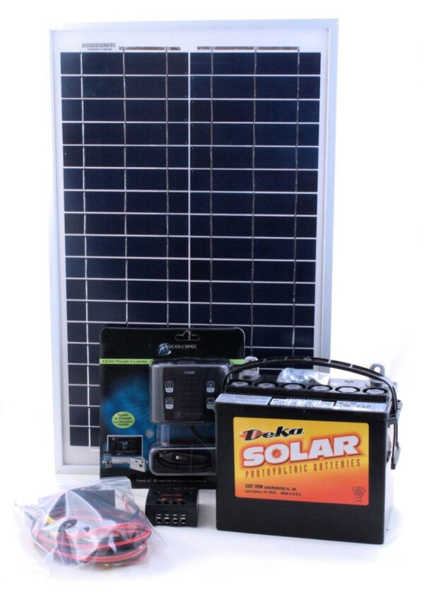 20W SOLAR KIT FOR LIGHTING & CHARGING
