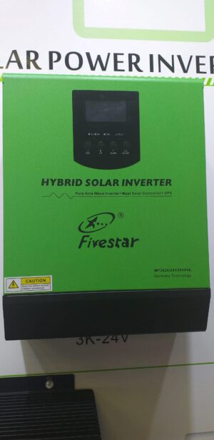 3KVA 24V FIVESTAR HYBRID PURE SINE WAVE INVERTER BUILT IN PWM SOLAR CHARGE CONTROLLER