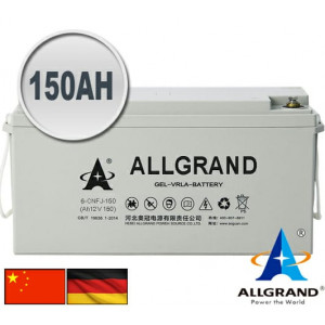 150AH 12V Gel - VRLA Allgrand Deep cycle battery