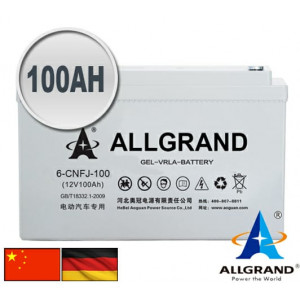 100AH 12V Gel-VRLA Allgrand Deep cycle battery
