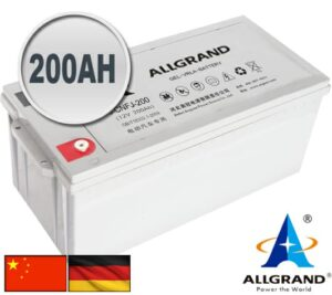 200AH 12V Gel-VRLA Allgrand Deep cycle battery