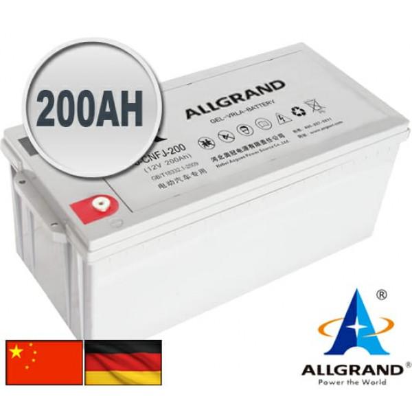 200AH 12V Gel-VRLA Allgrand Deep cycle battery