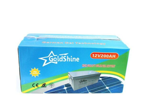 Goldshine 200AH 12V Gel solar Batteries box